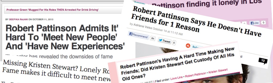 Robert Pattinson Lonely
