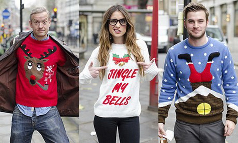 Christmas jumpers by Russ McClintock
