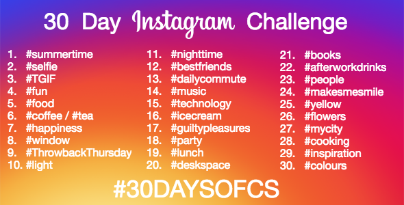 June Instagram Challenge